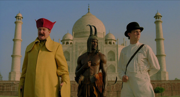 The Fall movie main characters in front of the Taj Mahal